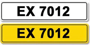 Lot 26-Registration Number EX 7012