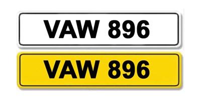 Lot 21-Registration Number VAW 896