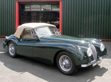 Lot 9-1954 Jaguar XK120 Drophead Coupe