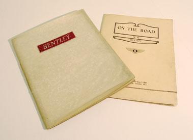 Lot 102-Pre-War Bentley Literature