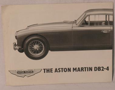 Lot 107-Aston Martin DB 2-4 Sales Brochure