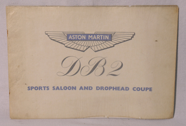 Lot 110-Aston Martin DB2 Sports Saloon Sales Brochure