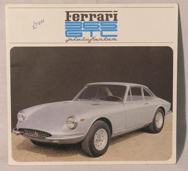 Lot 117-Ferrari 365 GTC Sales Brochure