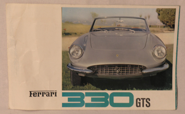 Lot 119-Ferrari 330 GTS Sales Brochure