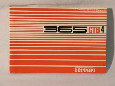 Lot 116-Ferrari 365 Parts Book