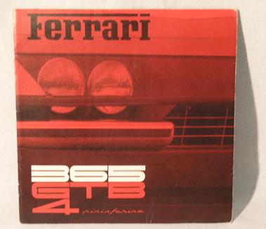 Lot 122-Ferrari 365 GTB/4 Sales Brochure