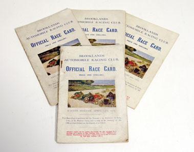 Lot 149-Four Brooklands Race Cards - 1923 - 1925