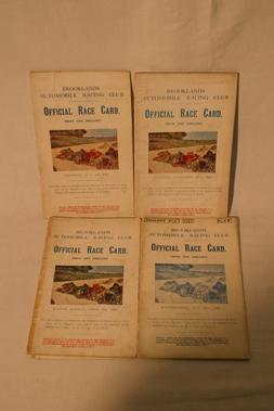 Lot 150-Four Brooklands Race Cards - 1926