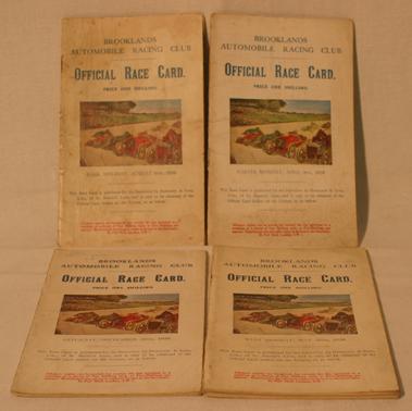 Lot 151-Four Brooklands Race Cards - 1928
