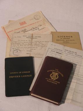 Lot 121-Early Motorcar Paperwork