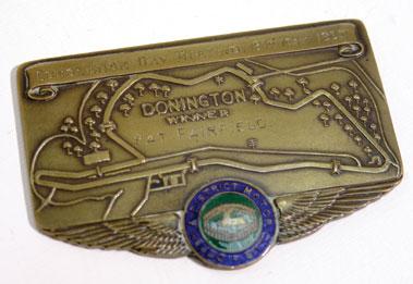 Lot 123-Donington Park Programmes / Pat Fairfield Winner's Plaque
