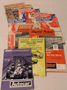 Lot 131-Crystal Palace Motor Racing Programmes