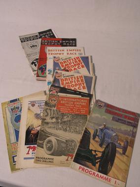 Lot 158-Brooklands British Empire Trophy Original Race Programmes