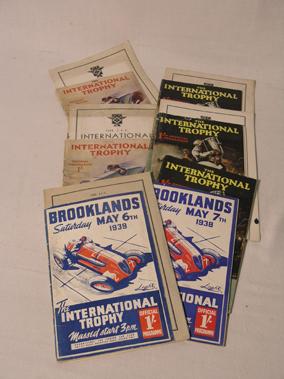 Lot 159-Brooklands 'International Trophy' Souvenir Event Programmes