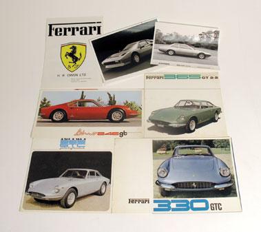 Lot 135-Quantity of Ferrari Sales Brochures
