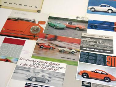 Lot 141-Porsche 911/912 Sales Brochures