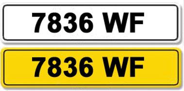 Lot 4-Registration Number 7836 WF