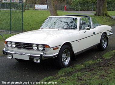 Lot 8-1976 Triumph Stag