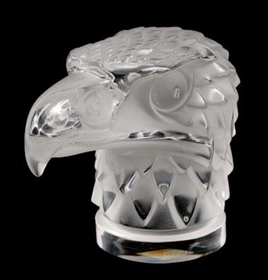 Lot 300-Tete D'Aigle / Eagle's Head Glass Mascot by R. Lalique