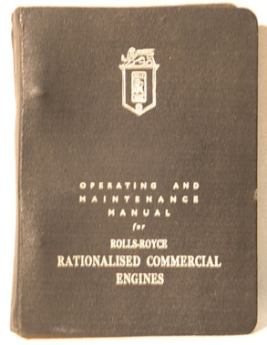 Lot 117-Rolls-Royce Commercial Engines Operating Manual