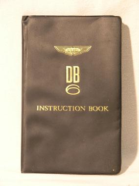 Lot 104-Aston Martin DB6 Instruction Book