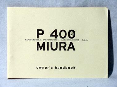 Lot 129-Lamborghini P400 'Muira' Reprinted Handbook