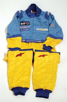 Lot 217-Jenson Button Signed Race Suit