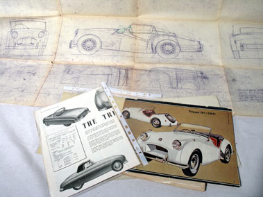 Lot 154-Triumph Drawings