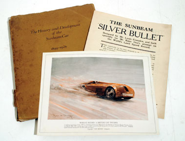 Lot 156-The History & Development of the Sunbeam Car (1899 - 1924)