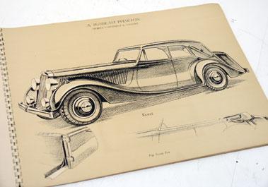 Lot 157-Pre-War Sunbeam De-Luxe Sales Brochure