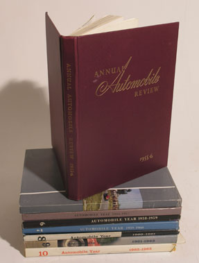 Lot 162-Eight Automobile Year Publications - 1955 - 1963