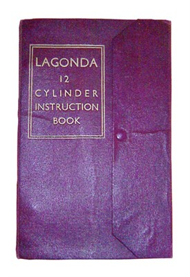 Lot 100-Lagonda 12 Cylinder Instruction Book