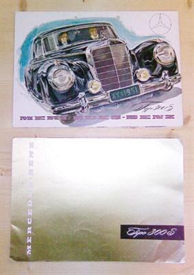 Lot 101-Two Mercedes-Benz 300S Sales Brochures