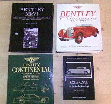 Lot 118-Eight Bentley Books