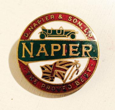 Lot 218-Early Napier Enamel Pin Badge