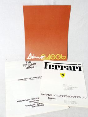 Lot 144-Ferrari Dino 246 'GT' Original Sales Brochure