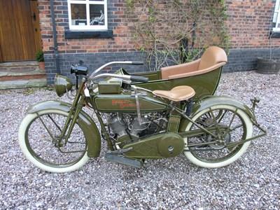 Lot 48-1918 Harley Davidson Model J Combination