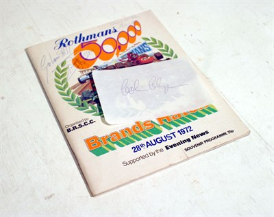 Lot 601-1972 'Rothmans 50,000' Signed Programme