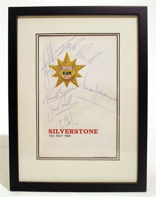 Lot 600-1966 Silverstone International Trophy Signed Production