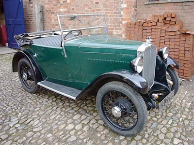 Lot 1-1933 Morris Minor Side Valve Tourer