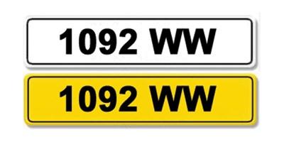 Lot 2-Registration Number 1092 WW