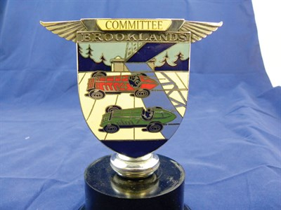Lot 200-B.A.R.C. Brooklands Committee Member's Car Badge