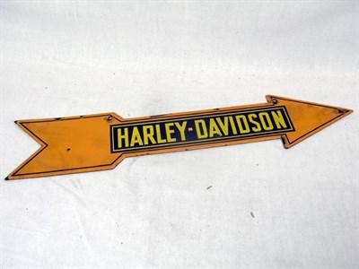 Lot 700 - Harley-Davidson Motorcycles Enamel Sign