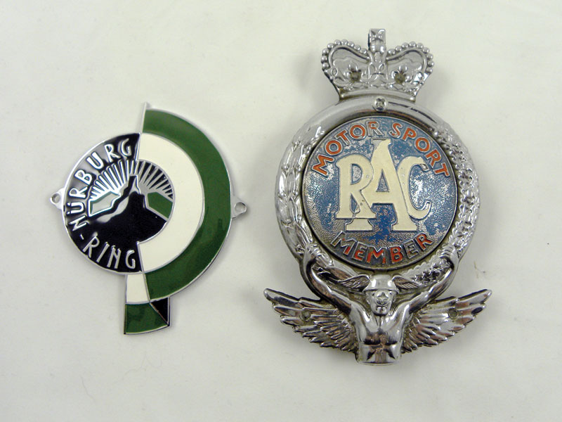 Lot 204-Nurburgring & RAC 'Motorsport' Car Badges