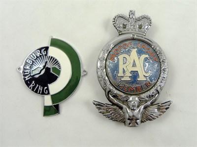 Lot 204-Nurburgring & RAC 'Motorsport' Car Badges
