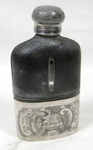 Lot 205-1903 Gordon Bennett Event Hipflask