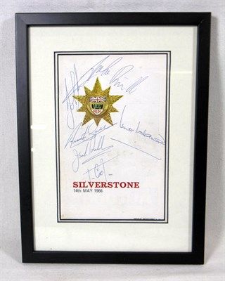 Lot 600 - 1966 Silverstone International Trophy Signed Production