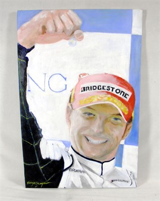 Lot 507 - 'Jensen Button World Champion 2009' Original Artwork