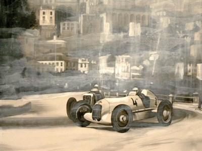 Lot 508 - Mercedes / Monaco Original Artwork
