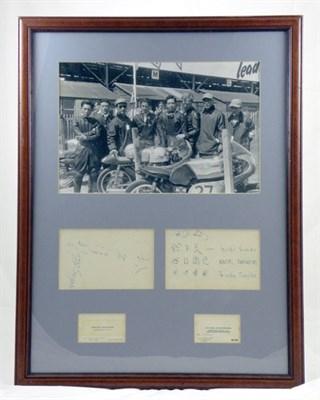 Lot 408 - 1959 Honda Motorcycle 'Works' Team Framed Production